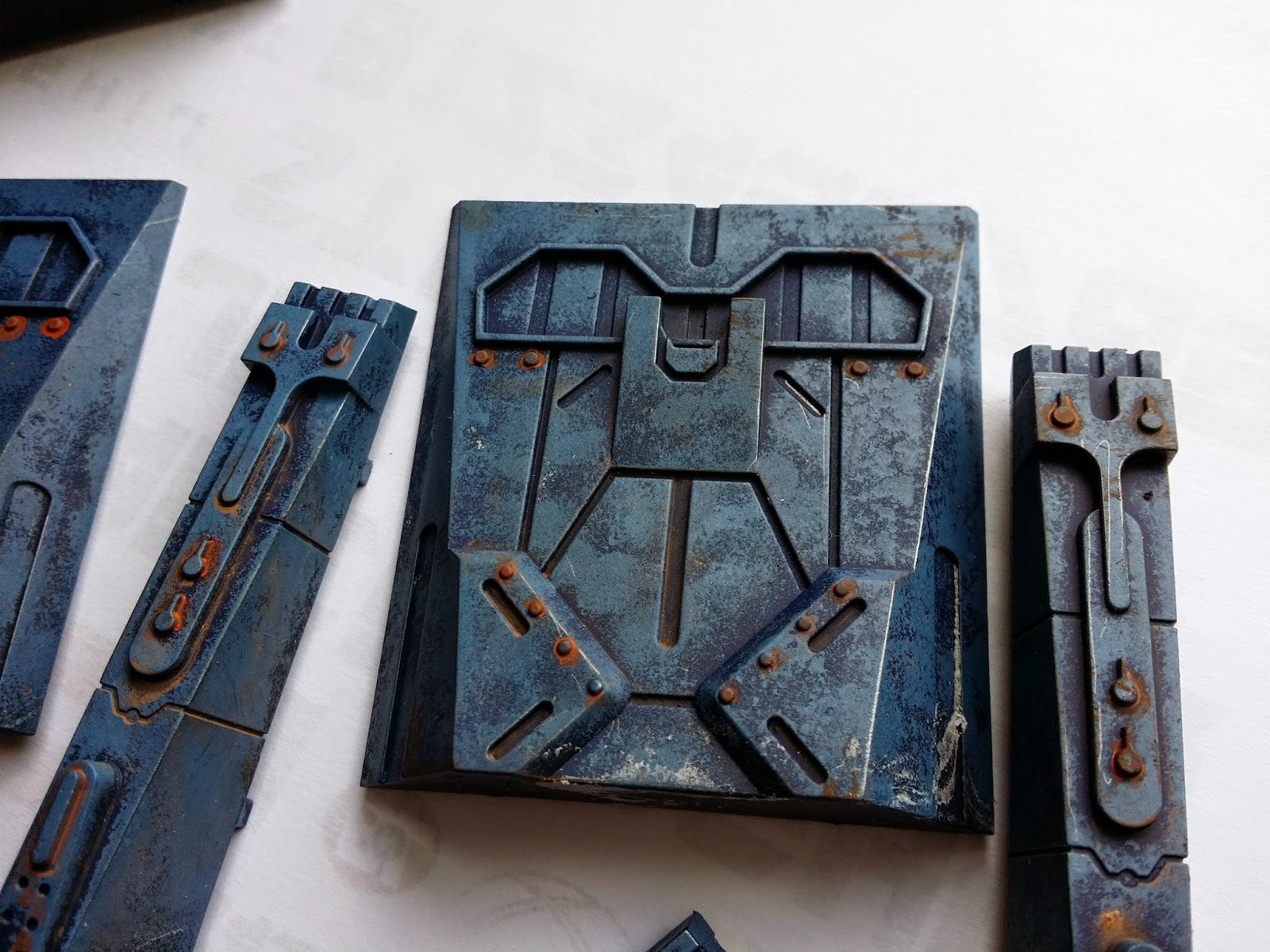 Mantic Deadzone Fortification Tiles Speed-painted
