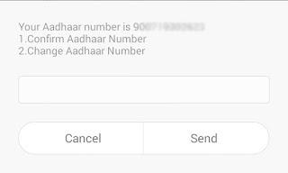 Confirm your Aadhaar Number