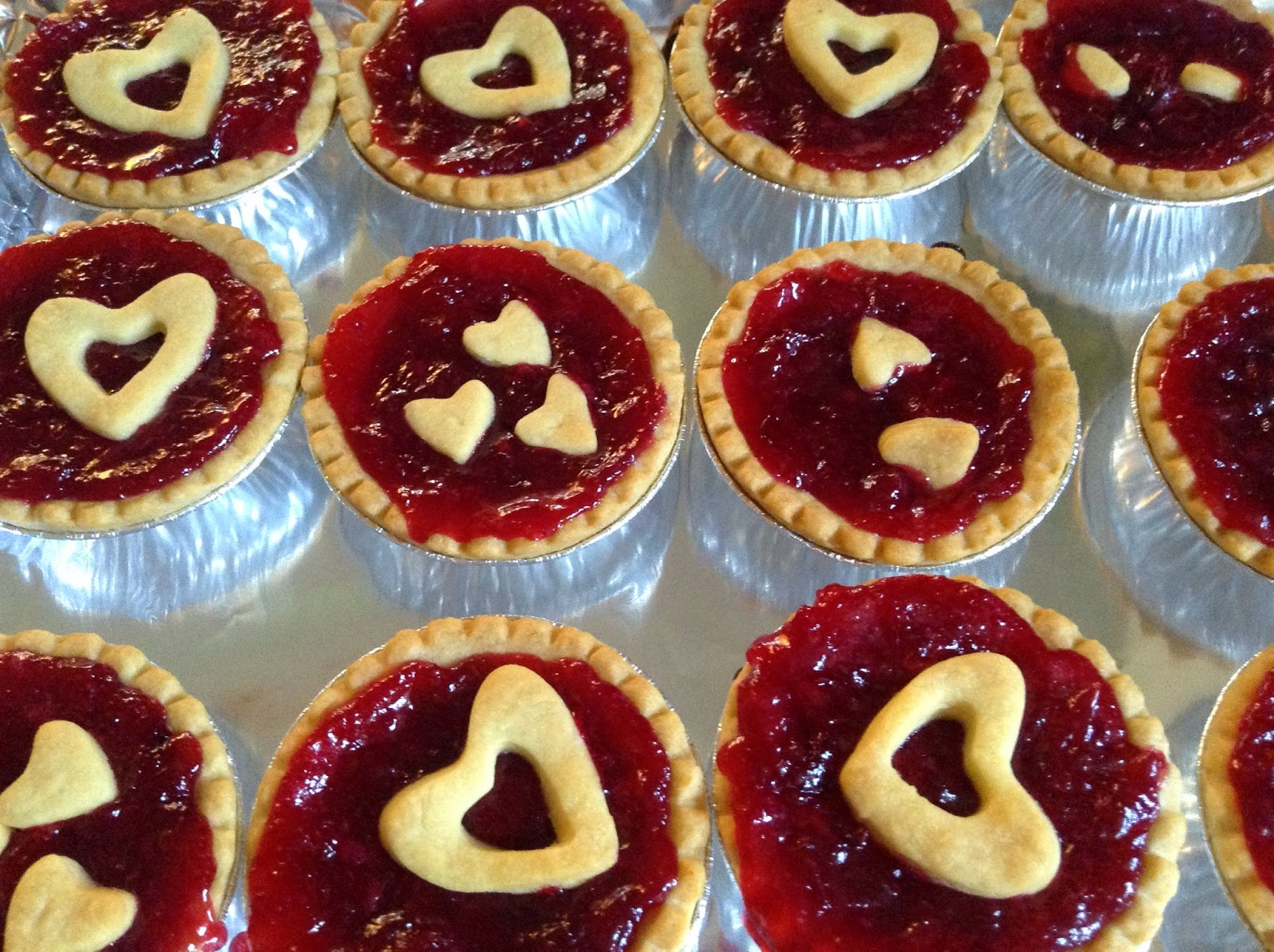 Cranberry Tarts out of the oven