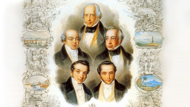 an analysis of rothschild banking consotium in 1815 Having been eminently successful in his screen portrayals of such historical figures as disraeli, alexander hamilton and voltaire, the suave george arliss in the house of rothschild, a.