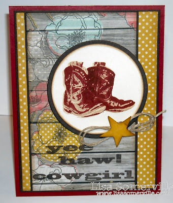 Kitchen Sink Stamps Multi Step Cowboy Boots, Multi Step Cowboy Hat (sentiment)