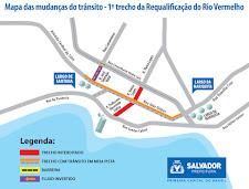 Requalificação do Rio Vermelho: confira como vai ficar o trânsito