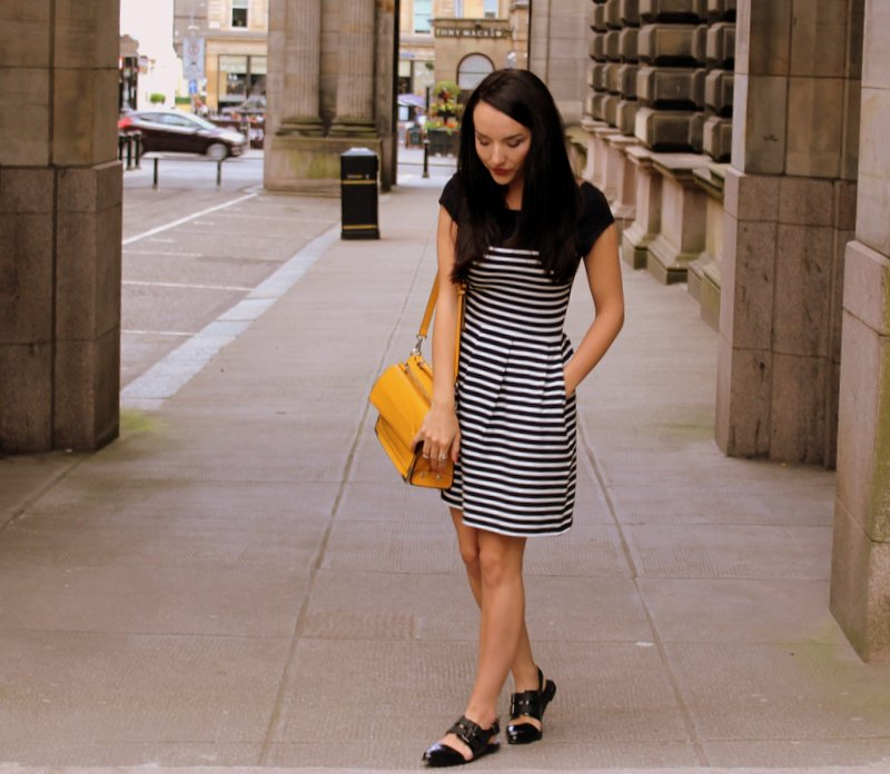 Striped Casual Dress Outfit