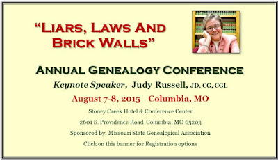 Liars Laws and Brickwalls MoSGA 34th Annual Conference