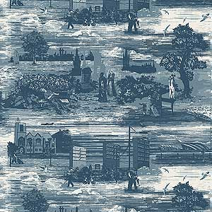 The glasgow toile above and the london toile below