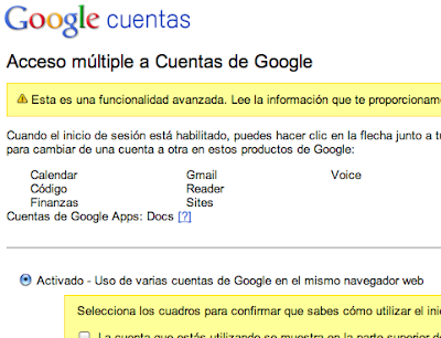 Cuentas gmail