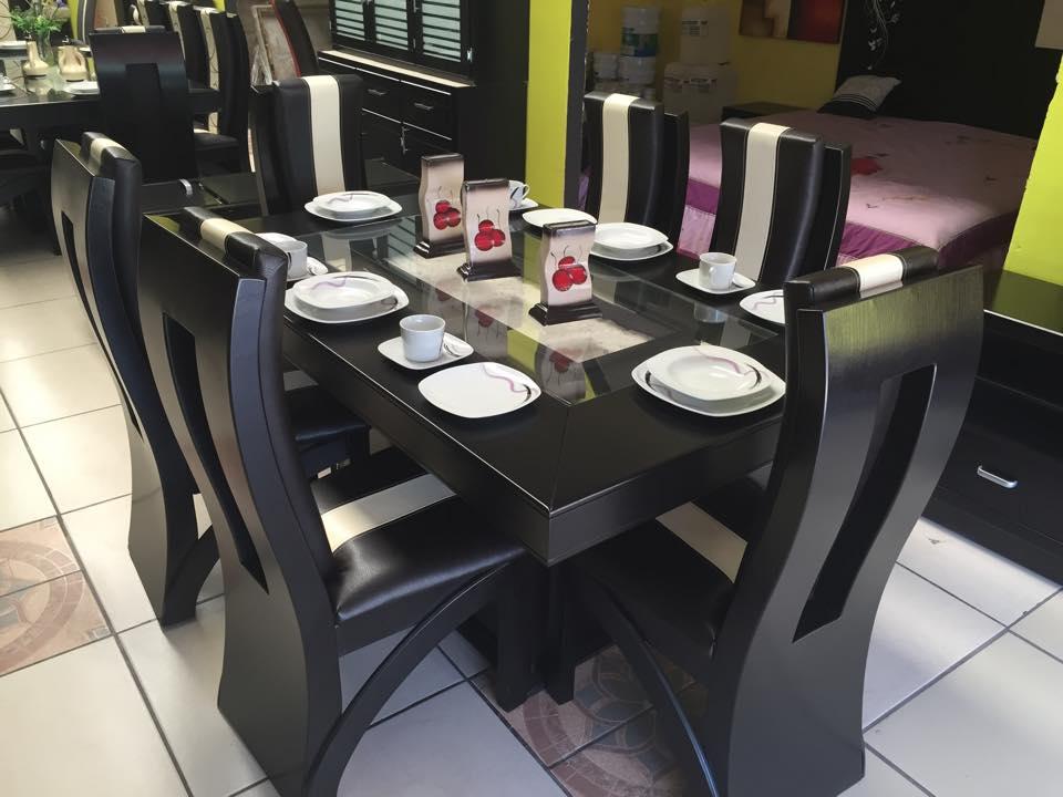 Electronica y muebles alroy for Comedores de 6 sillas modernos