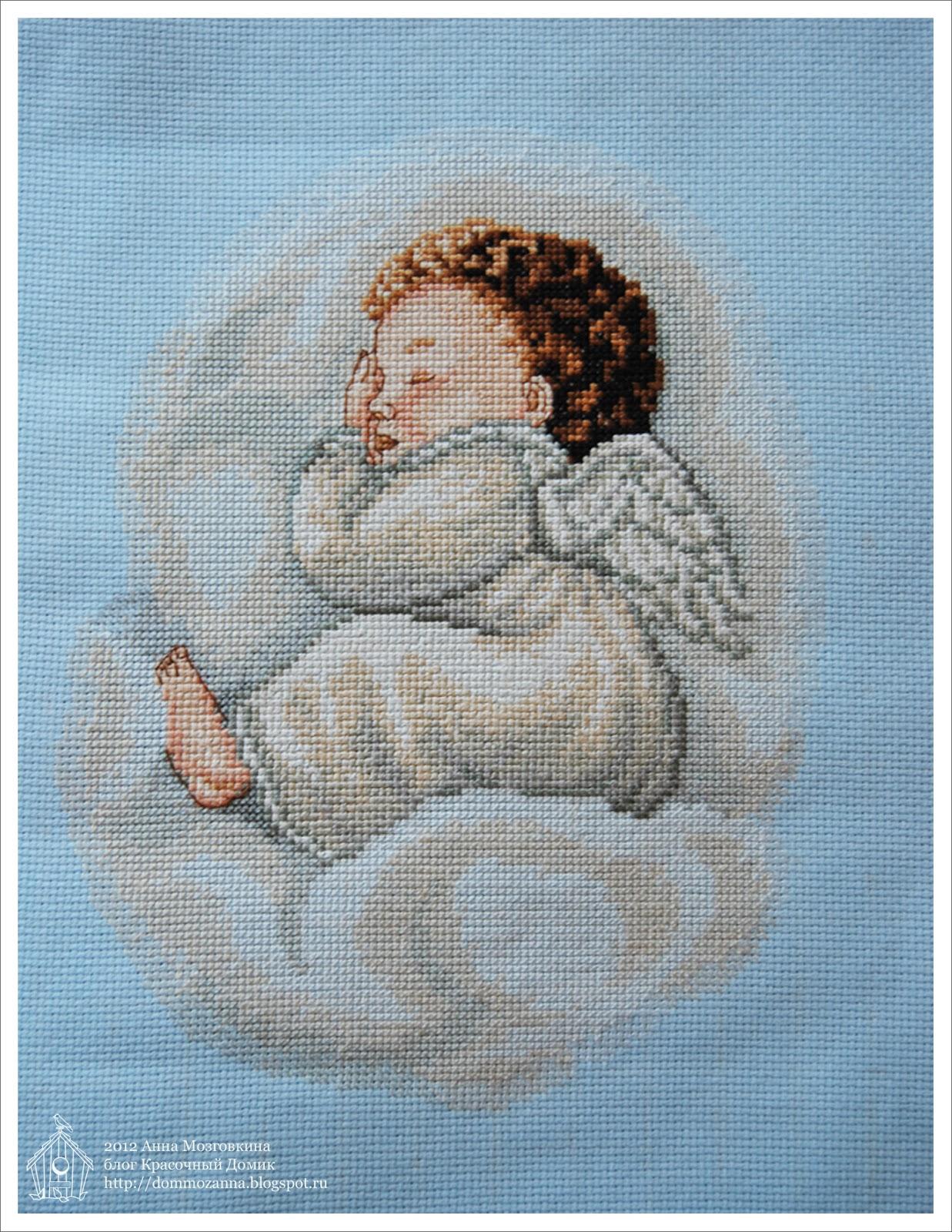 Ангел вышивка крестом