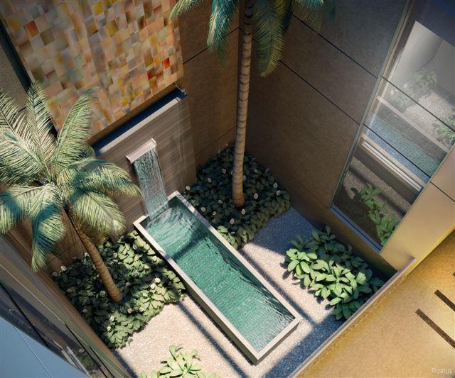 fotos de jardim interno : fotos de jardim interno:verde também pode ser uma ótima escolha para tornar o local