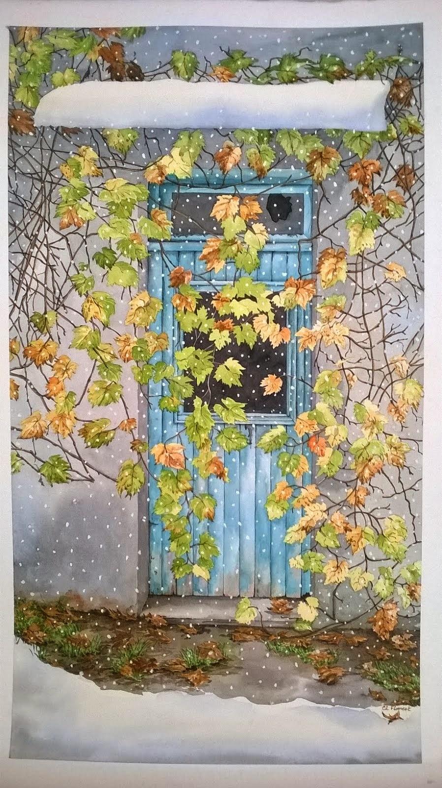 Christine flament auteur illustratrice aquarelles for Prix porte jardin