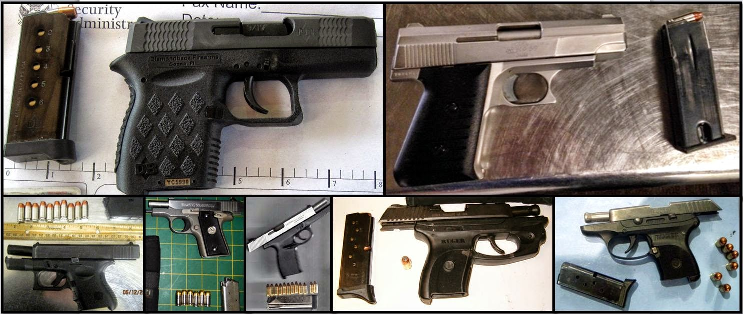 Firearms Discovered at (Clockwise) GPI, PHX, DAL, LAS, PHX, DAL & AUS
