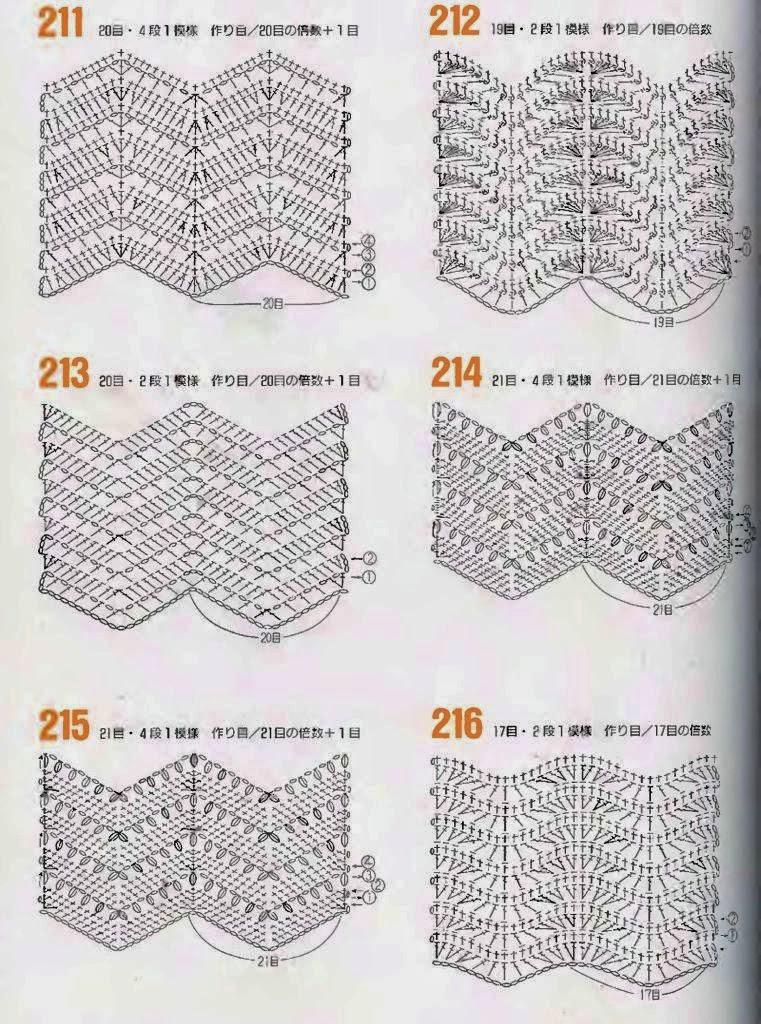 Free Crochet Zig Zag Hat Pattern : MES FAVORIS TRICOT-CROCHET: 40 points vagues au crochet