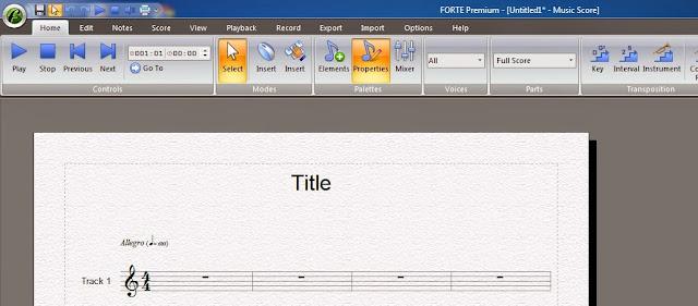Editor de partitura Forte premium
