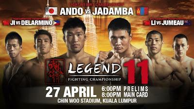 Legend FC 11 Malaysia 2013 MMA fighting championship