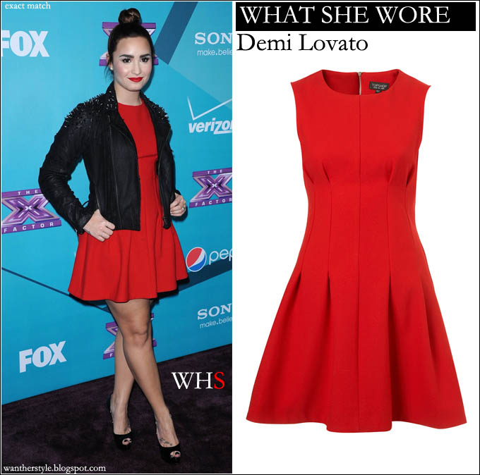 Red Leather Cocktail Dress
