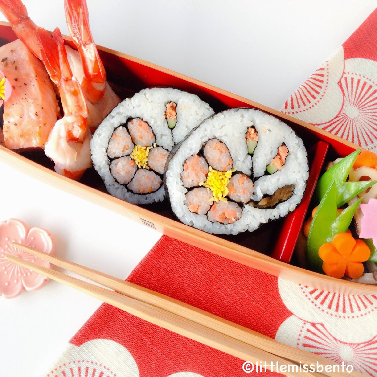 sushi roll plum blossom sushi rolls well japanese plum blossom sushi ...