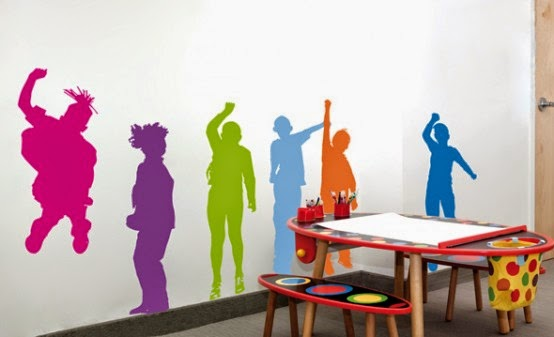 funny wall sticker for children