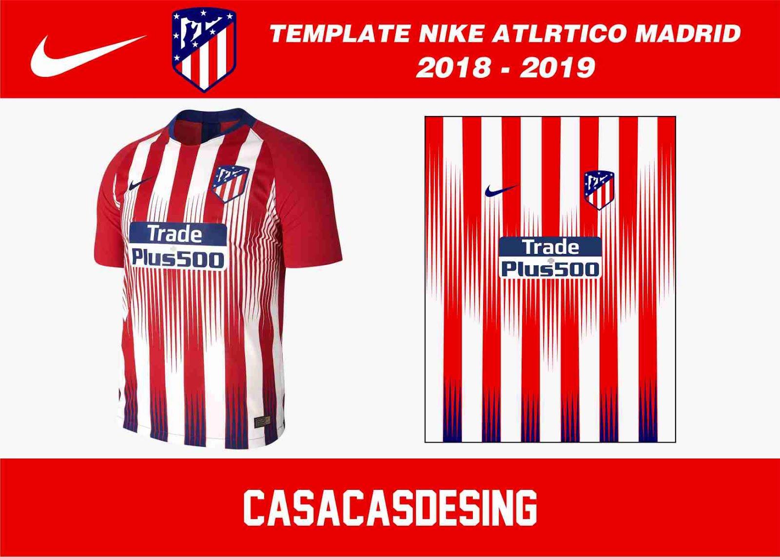 Esta es la nueva camiseta de fútbol local del Atlético de Madrid 2018-19 de  Nike. 7697b8e27c97f