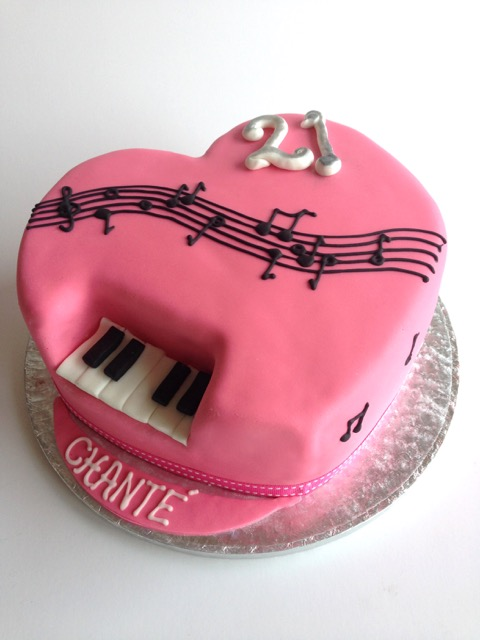 rozanne s cakes pink piano heart cake on birthday cakes durbanville cape town