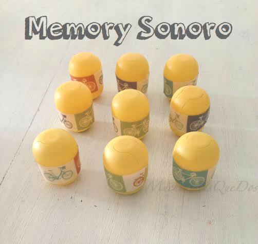 DIY con niños Memory Sonoro Reciclar cápsulas de huevos sorpresa