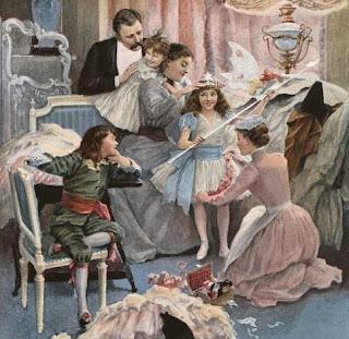 Enfant déjà, maman ne me voyait pas... (Illustration by Amédée Forestier (1845-1930) for Le Figaro illustré, February 1893)