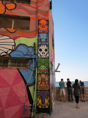 Tel Aviv graffiti exquisite corpse