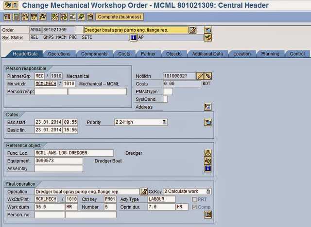 SAP Consultant,Bangladesh: SAP Plant Maintenance Order