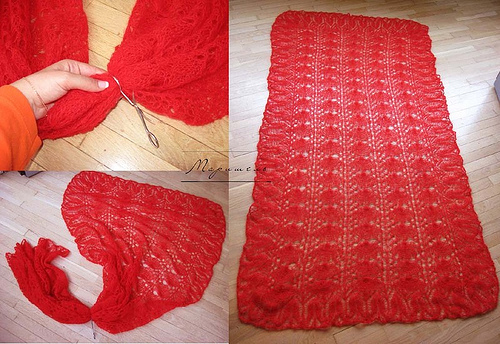Free Knitting Pattern New Rectangular Knitting Shawl Patterns