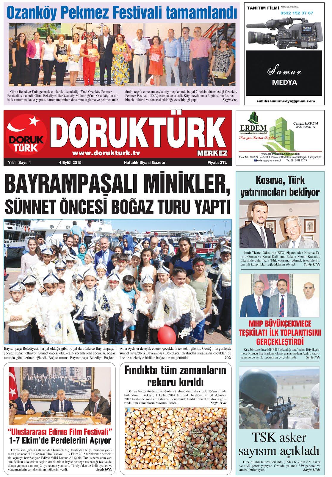 DORUKTÜRK MERKEZ Gazetesi