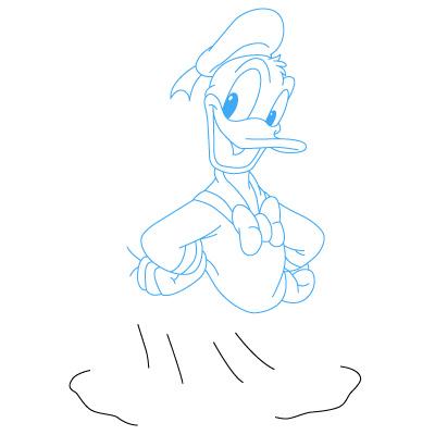 Cara Menggambar Donal Bebek