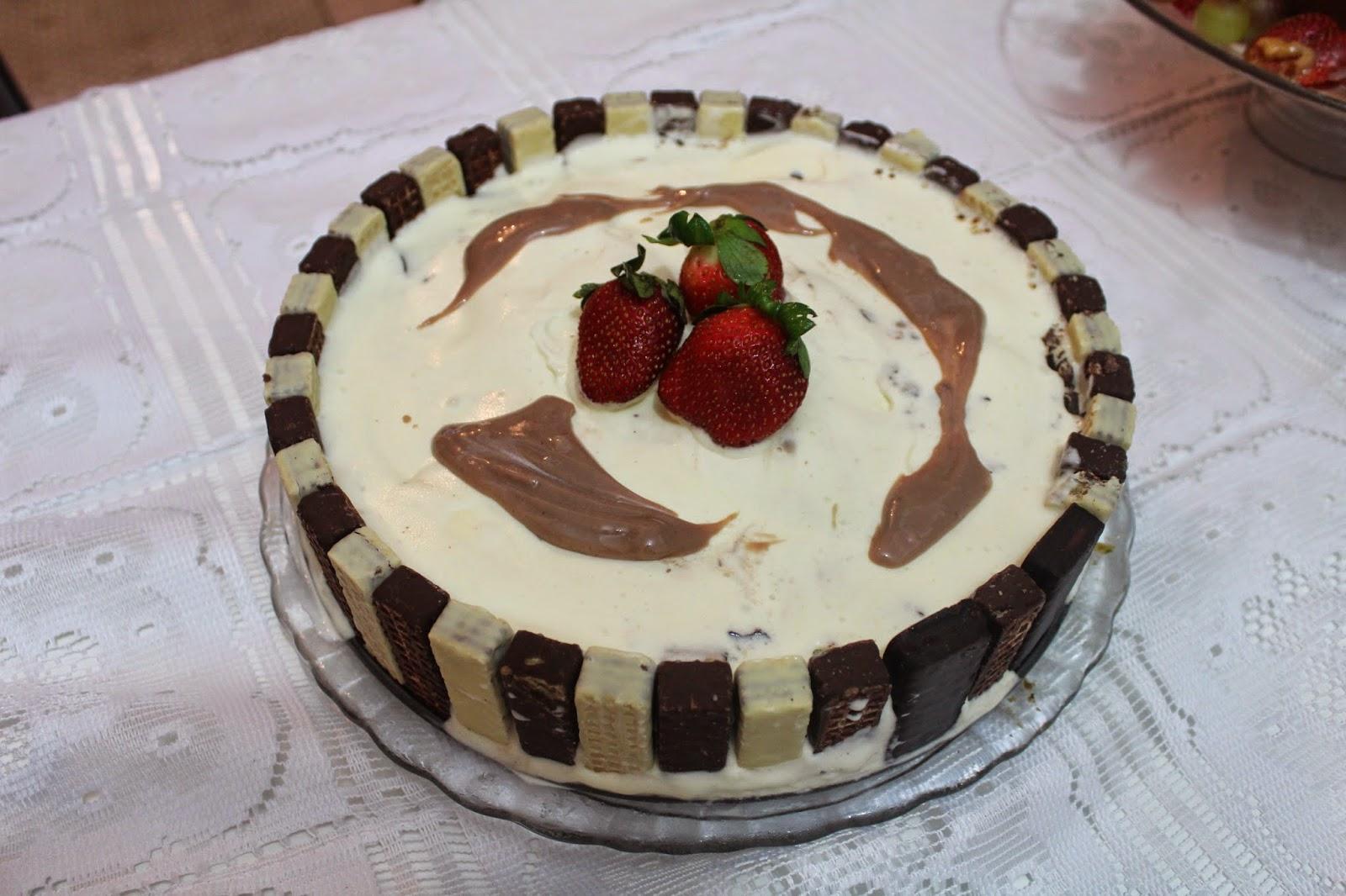 torta bis de sorvete e brigadeiro