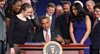 President Barack Obama signs the America Invents Act September 16, 2011