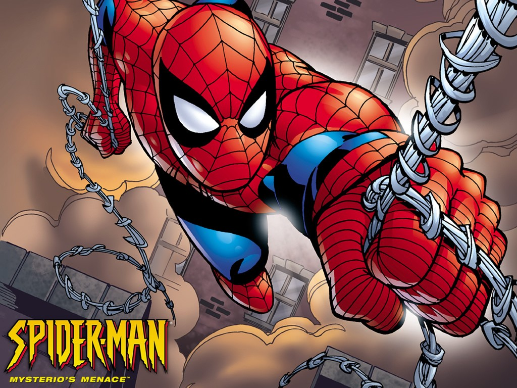 Amazing Spiderman Cute Cartoon Wallpaper
