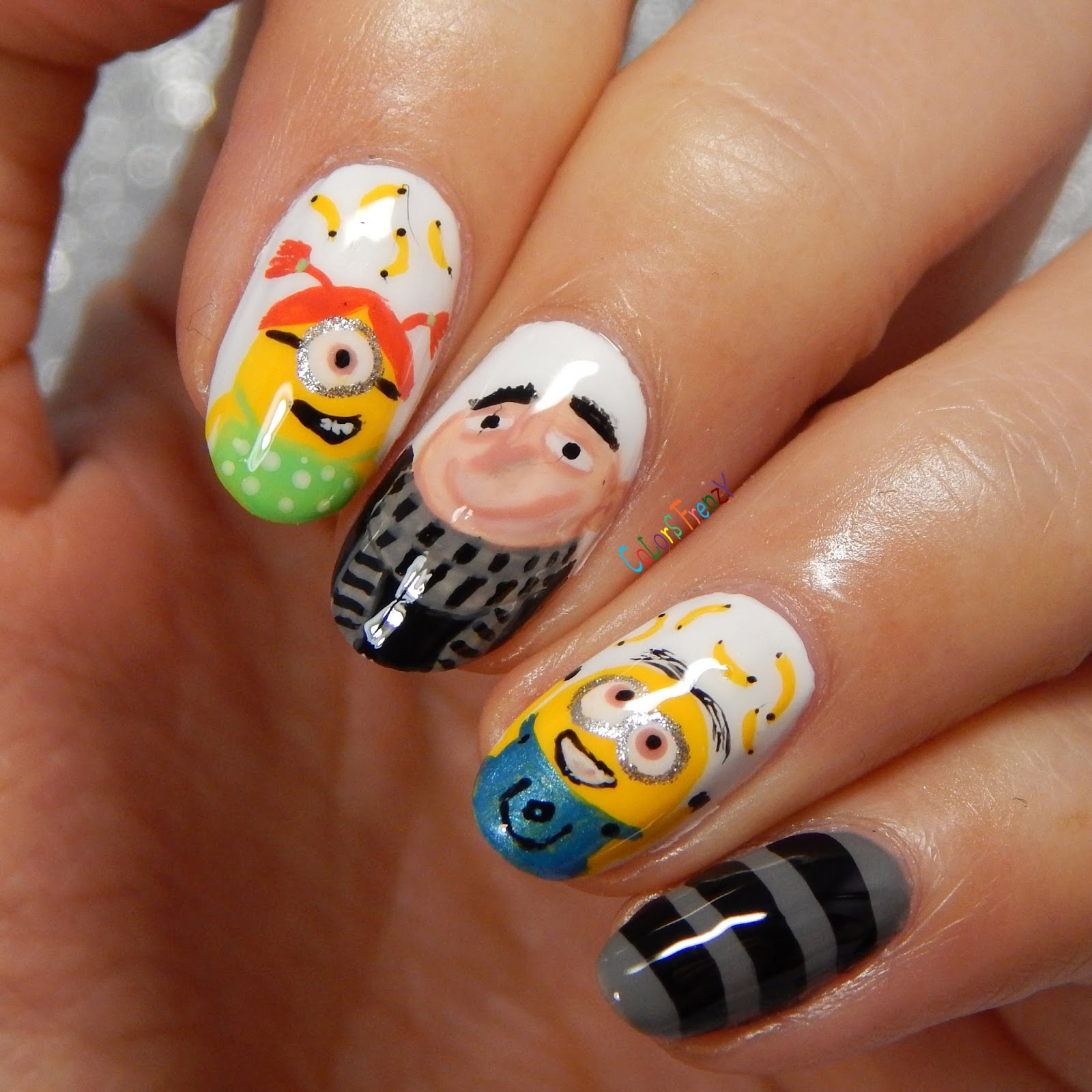 Colors Frenzy: Despicable Me Nail Art