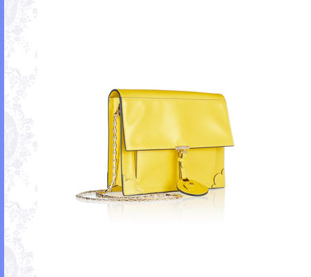 Grace Intemporelle, Jason Wu, yellow Jourdan textured-leather shoulder bag