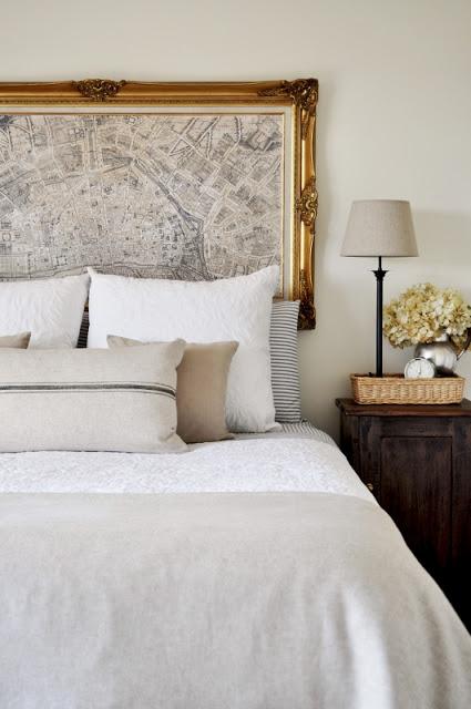 Ideas Para Decorar Baños Con Poca Plata:de París como cabecera de cama genial! Podés poner el mapa de