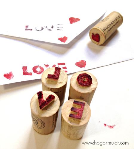 Como hacer sellos divertidos con corchos reciclados for Como hacer sellos