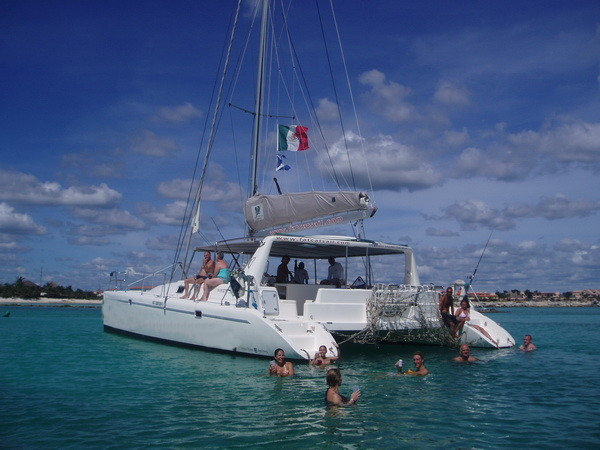 Catamaran day or sunset tour Puerto Aventuras Riviera Maya