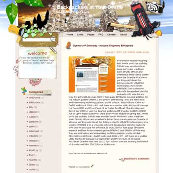 Backpackers at Your Desire Blogger Template. free download template blogspot