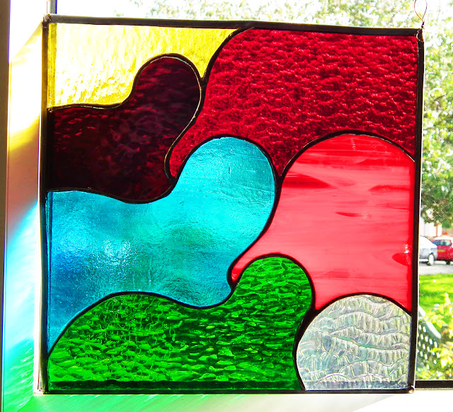Schmoo shapes abstract stained glass