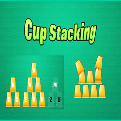 Cup Stacking (Fun Educational Typing Game)