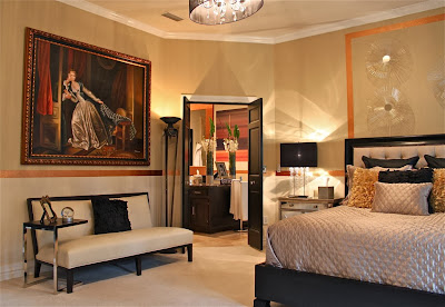 classy and elegant luxury bedroom design promoting beautiful dim lights and warm room environment