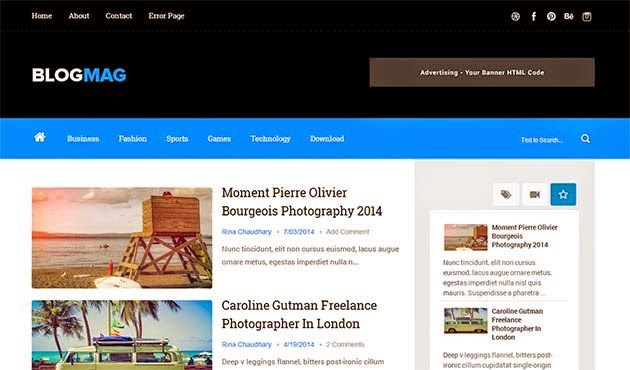 Blogmag Responsive Blogger Template