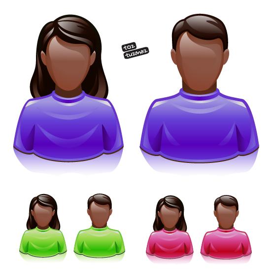 Avatarlar vektörel 3d avatar 3 boyutlu free avatar vector