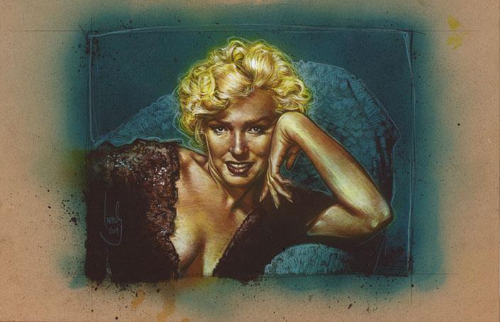 Marilyn Monroe, Original Artwork by Jeff Lafferty