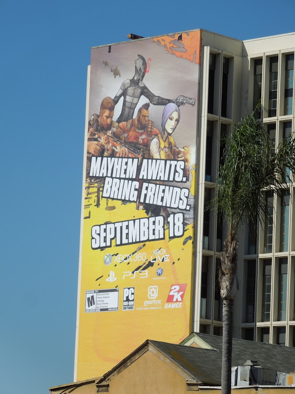 Borderlands 2 video game billboard