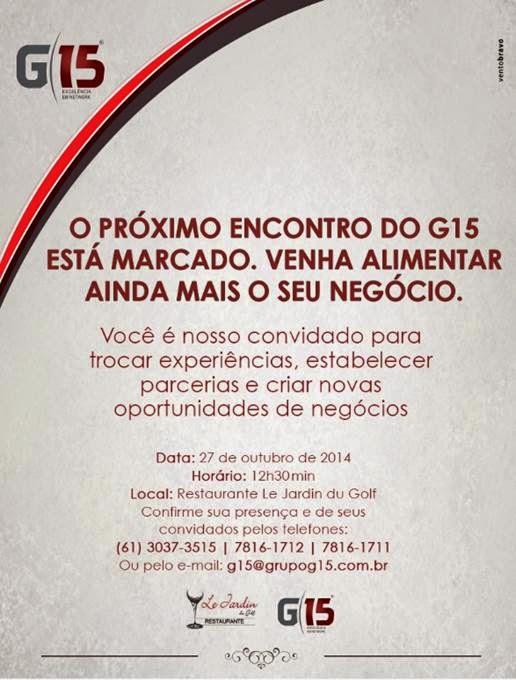 Convite: Almoço empresarial do Grupo G15