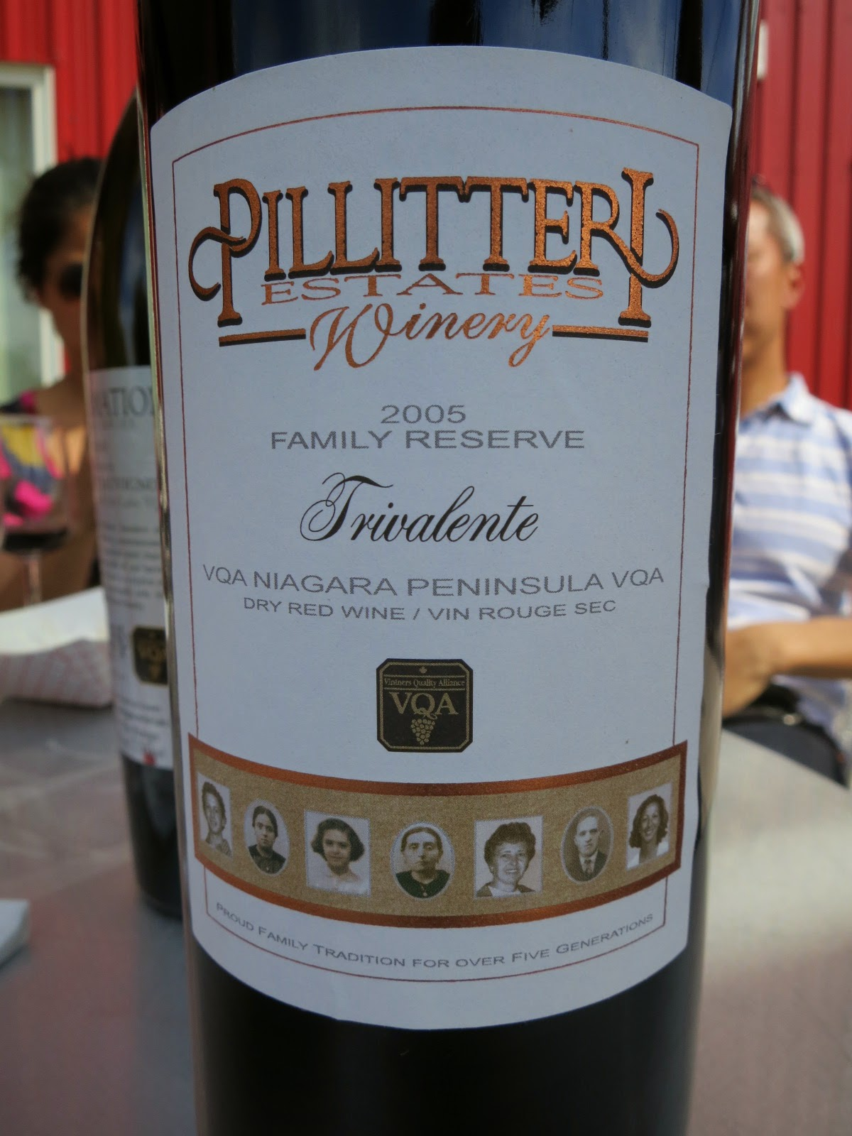 Wine Review of 2005 Pillitteri Family Reserve Trivalente from VQA Niagara Peninsula