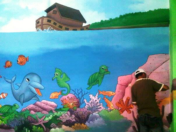 Lukisan dinding tk for Mural untuk kanak kanak