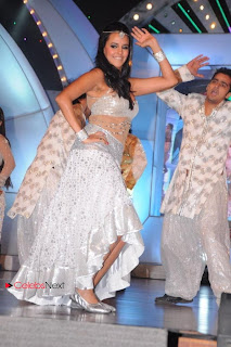 Neha Dhupia  stage Dance Pictures at TV9 TSR Awards  0017